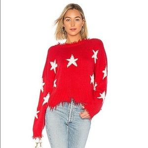 Wild fox star sweater Reversible